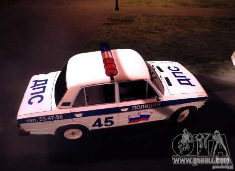 VAZ 2106 Police v 2.0 for GTA San Andreas inner view