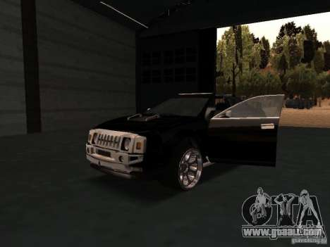 Hummer H0 for GTA San Andreas inner view