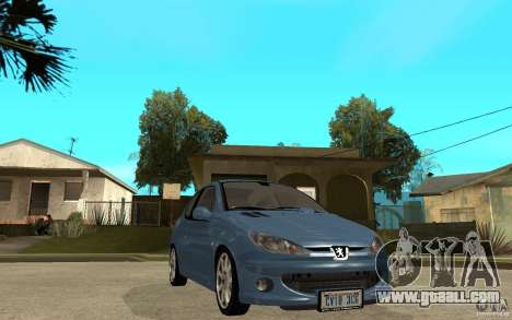 Peugeot 206 GTi - Stock for GTA San Andreas back view