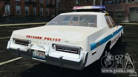 Dodge Monaco 1974 Police v1.0 [ELS] for GTA 4 back left view