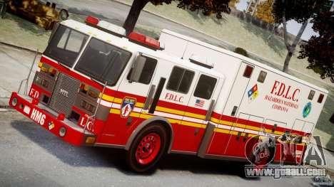 LCFD Hazmat Truck v1.3 for GTA 4