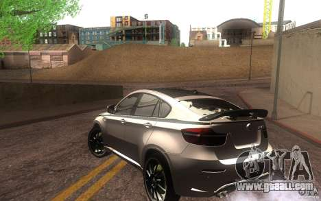Bmw X6 M Lumma Tuning for GTA San Andreas back left view
