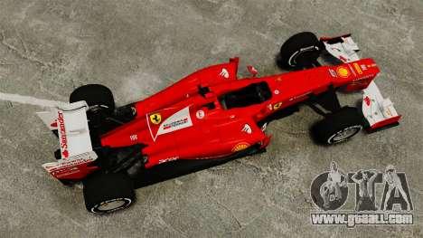 Ferrari F2012 for GTA 4 right view