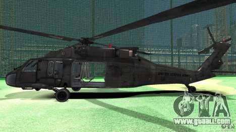 Sikorsky UH-60 Black Hawk for GTA 4 back left view