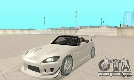 Honda S2000 Cabrio West Tuning for GTA San Andreas