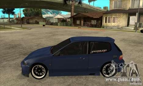 Honda Civic EG6 for GTA San Andreas left view