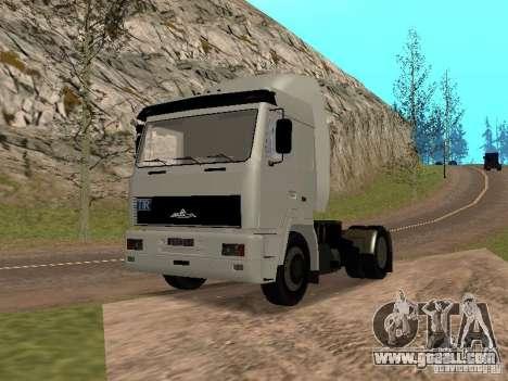 MAZ 5440 for GTA San Andreas right view