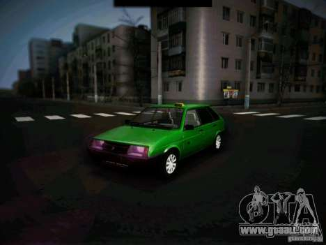 Vaz 2109 short-kryloe Taxi for GTA San Andreas