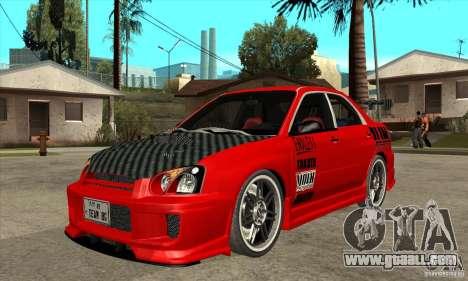Subaru Impreza 2005 Tuned for GTA San Andreas