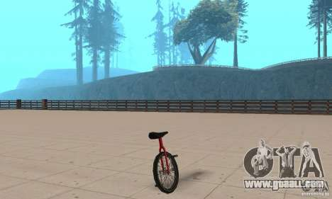Unicycle for GTA San Andreas left view