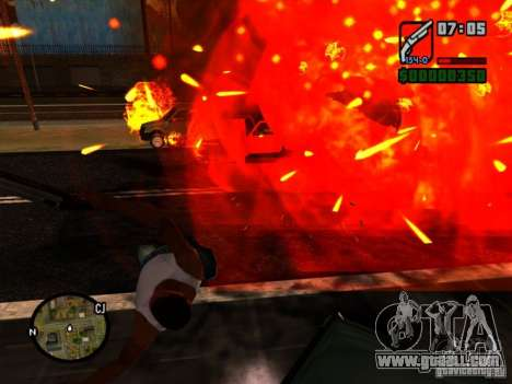 Garbage from the explosion for GTA San Andreas second screenshot