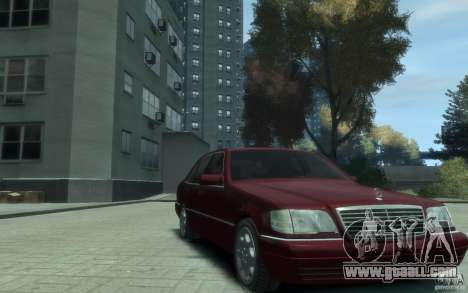 Mercedes-Benz S600 W140 for GTA 4 back view