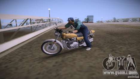 Kawasaki Z1 1975 for GTA Vice City left view