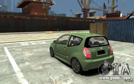 Citroen C2 for GTA 4 back left view