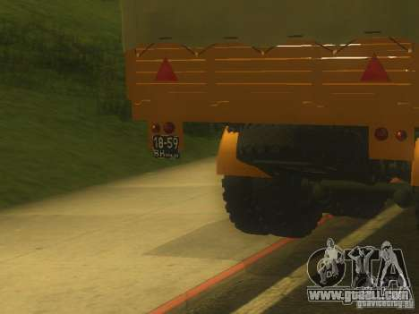 Trailer MAZ 5205 for GTA San Andreas back view