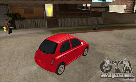 Nissan Micra for GTA San Andreas right view