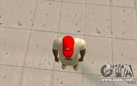 Puma Cap bright red for GTA San Andreas third screenshot