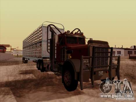 Peterbilt 359 Day Cab for GTA San Andreas back left view