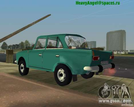 Moskvitch IZH 412 for GTA Vice City left view