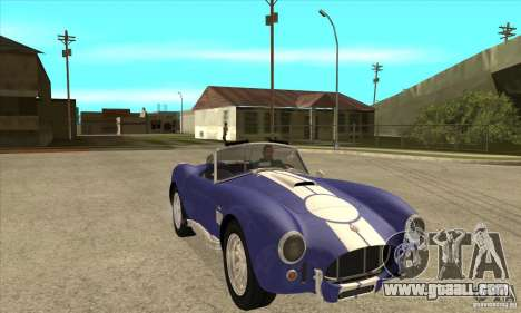 AC Shelby Cobra 427 1965 for GTA San Andreas back view