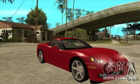 Chevrolet Corvette C6 Z51 - Stock for GTA San Andreas back view