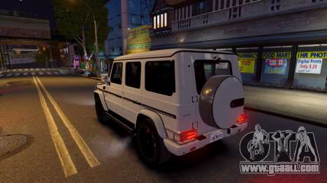 Mercedes-Benz G65 2013 AMG for GTA 4 back left view
