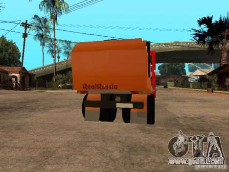 MAZ 54323 GARBAGE TRUCK for GTA San Andreas back view