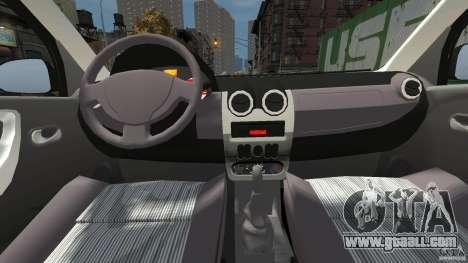 Dacia Logan Prestige Taxi for GTA 4 right view