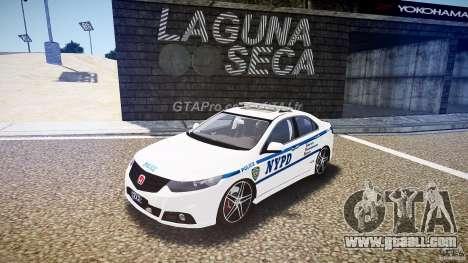 Honda Accord Type R NYPD (City Patrol 7605) ELS for GTA 4