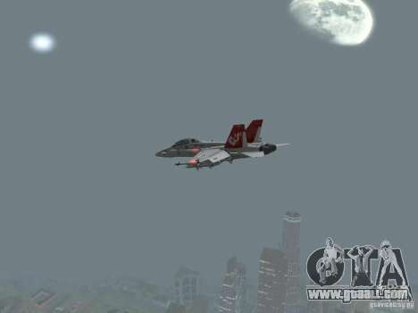 FA-18D Hornet for GTA San Andreas right view