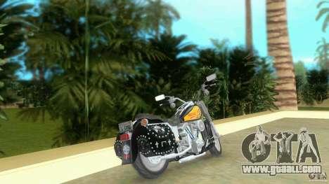 Harley Davidson FLSTF (Fat Boy) for GTA Vice City back left view