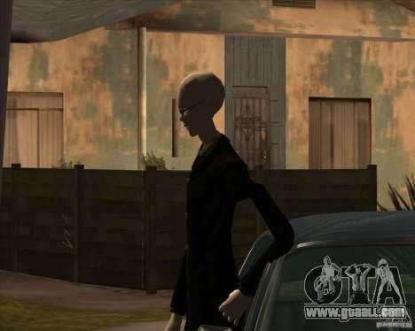 Slender in dark glasses for GTA San Andreas forth screenshot