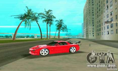 Mazda RX7 Charge-Speed for GTA Vice City bottom view