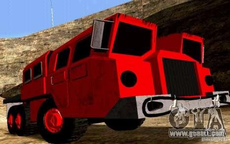 Maz-7310 Civil Narrow Version for GTA San Andreas back view