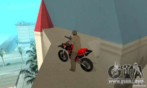 DT 180 Motard for GTA San Andreas back view