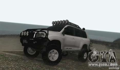 Toyota Land Cruiser 200 Off Road v1.0 for GTA San Andreas left view