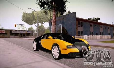 Bugatti Veyron 16.4 EB 2006 for GTA San Andreas back view