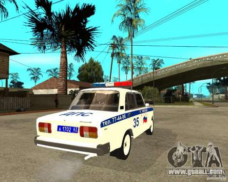 Vaz 2105 DPS for GTA San Andreas back left view