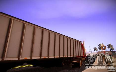 Dumper Trailer for GTA San Andreas left view