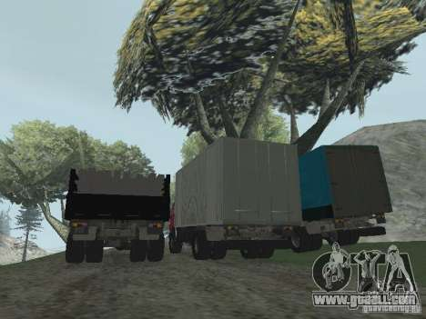 KAMAZ 5325 for GTA San Andreas back view