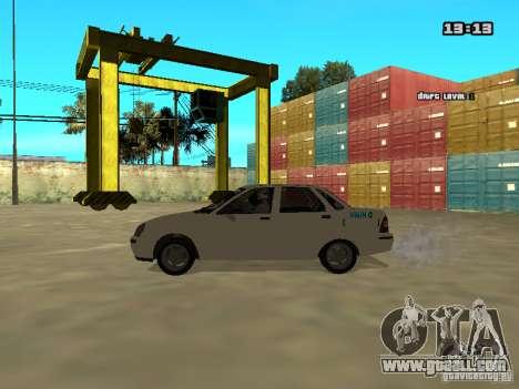 Lada Priora for GTA San Andreas right view