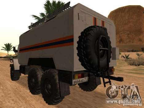 Ural 4320 MOE for GTA San Andreas left view