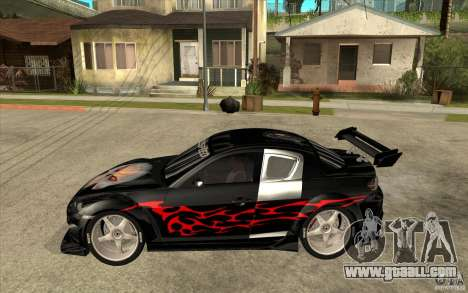 Mazda RX8 Underground Tuning for GTA San Andreas left view