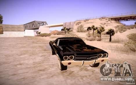 Chevrolet El Camino SS 1970 for GTA San Andreas left view