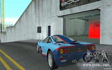 Mclaren F1 road version 1997 (v1.0.0) for GTA San Andreas back left view