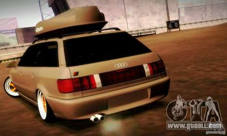 Audi RS2 Avant Thug for GTA San Andreas back view