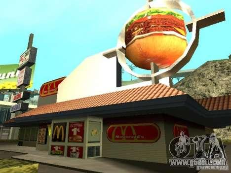 Mc Donalds for GTA San Andreas ninth screenshot