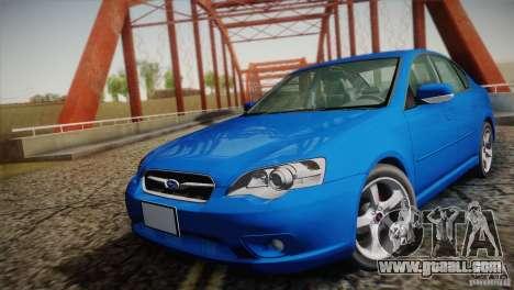 Subaru Legacy 2004 v1.0 for GTA San Andreas back view