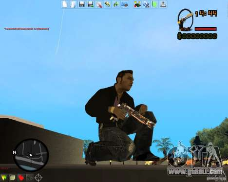 Smalls Chrome Gold Guns Pack for GTA San Andreas forth screenshot