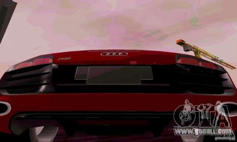 Audi R8 V10 Spyder 5.2. FSI for GTA San Andreas right view